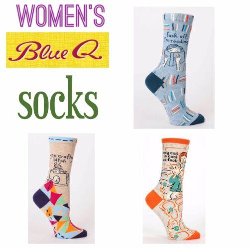 NEW STYLES! Blue Q Women's Crew Socks Lrg. Variety Size 5-10
