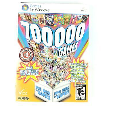 Big Box of 700000 Games (PC DVD, 2013) Windows Slots Poker Hidden Object Board