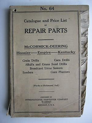 1923 Ih Mccormick Deering Hoosierempirekentucky Drills Planters Parts Catalog