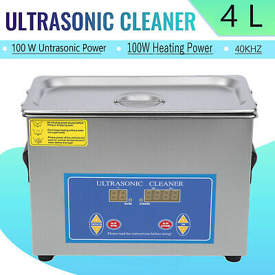 4l Ultrasonic Cleaner Cleaning Equipment Liter Industry Heated W Timer Heater