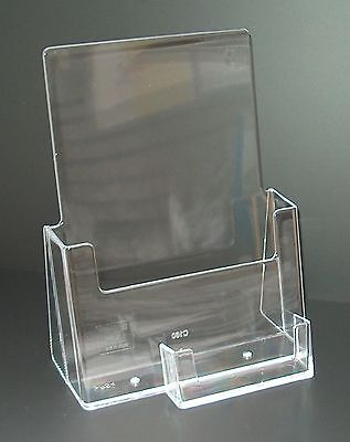 A5 LEAFLET HOLDERS AND BUSINESS CARD HOLDER COUNTER DISPLAY STAND X 1