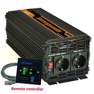 Power Inverter  3000w 6000 WATT 12V 240V Converter Free Remote