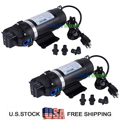 Pack Of 2 110v Self-priming Diaphragm Pump 160psi Sprayer Water Pump Caravan