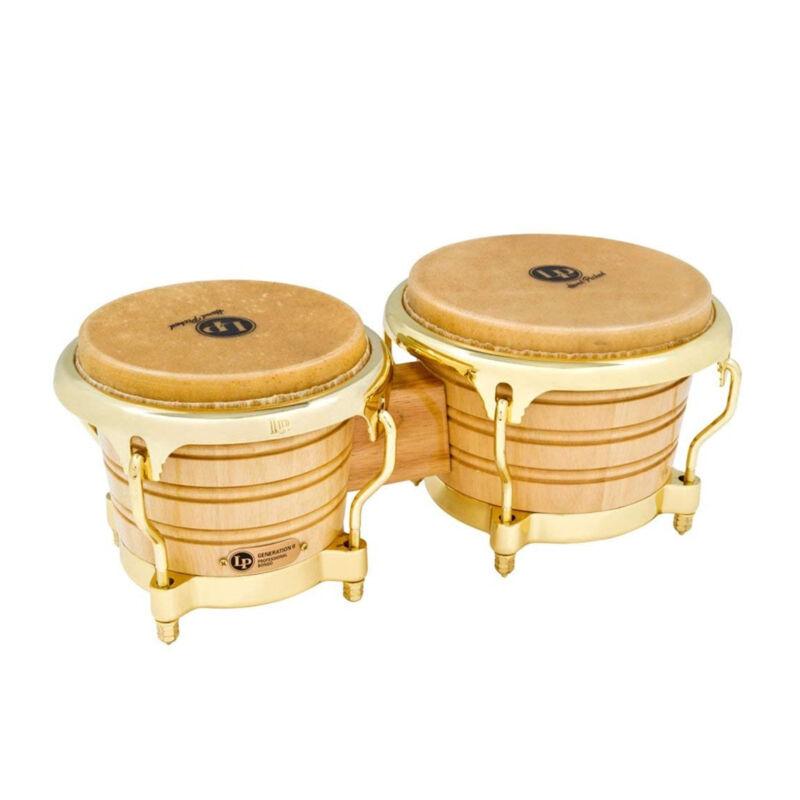 Latin Percussion LP Generation II Wood Bongos Gold