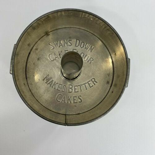VTG E. KATZINGER CO.SWANS DOWN CAKE FLOUR MAKES BETTER CAKES PAN PAT. 1923