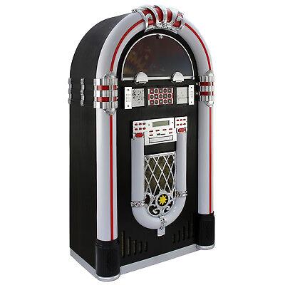 Tocadiscos Retro Años 50 Jukebox Vintage para Vinilos USB con Radio Pantalla...