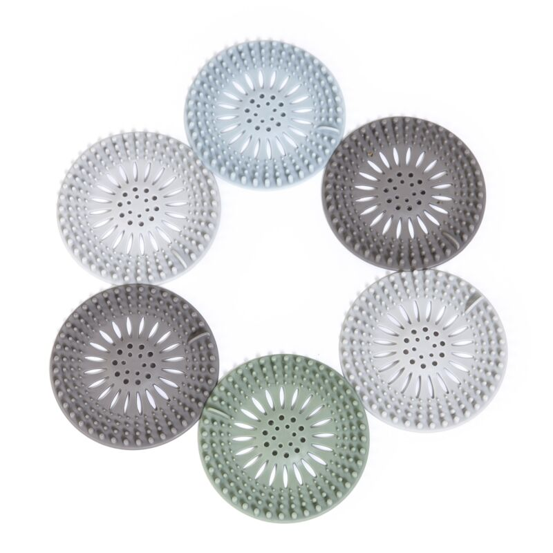 Hair Catcher Drain Covers for the Bathroom and Shower - Set of 6