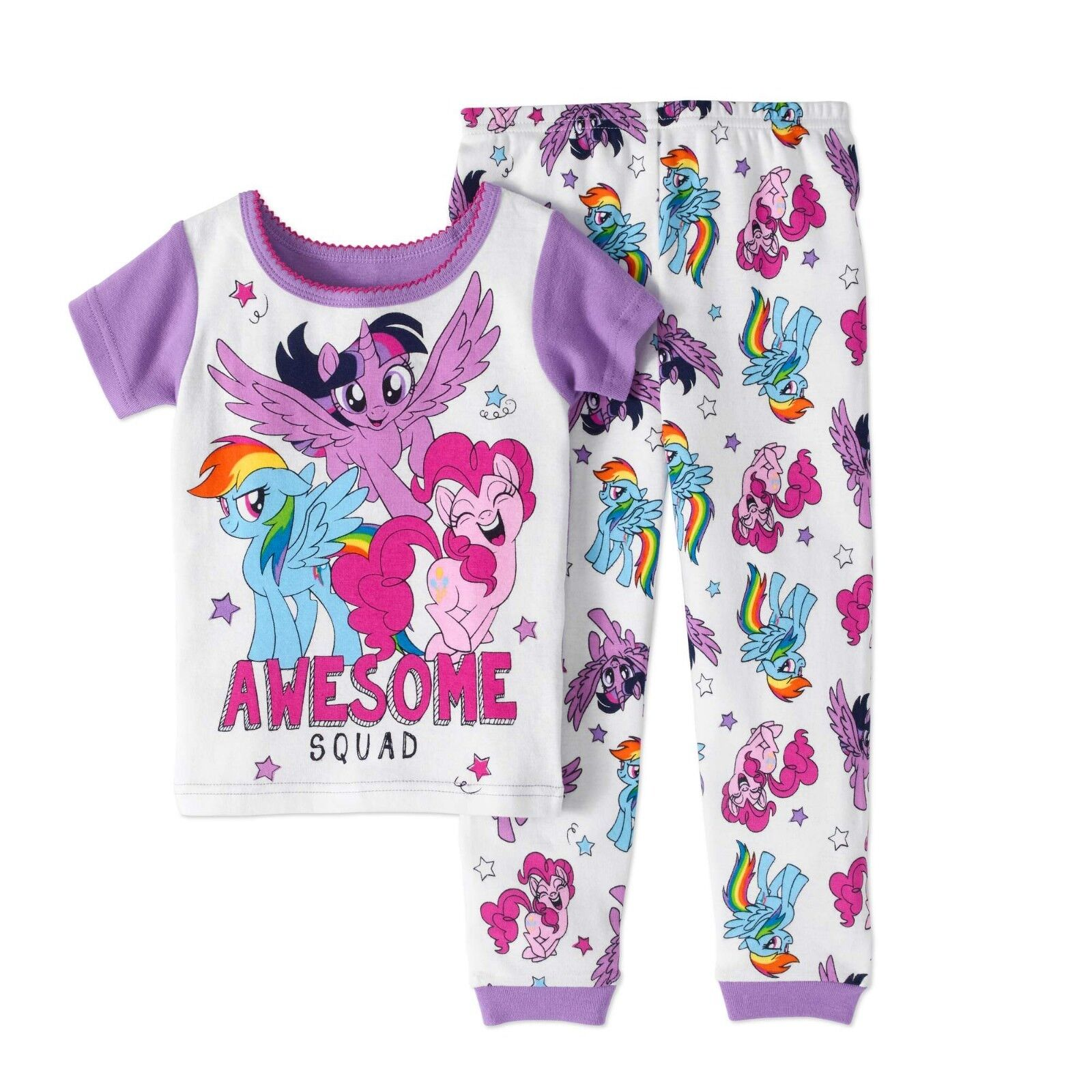 My Little Pony 2 PC Short Sleeve Tight Fit Cotton Pajama Set