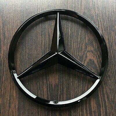 Emblem Star Schriftzug Logo Schwarz Glänzend für Mercedes B E GL GLA GLK