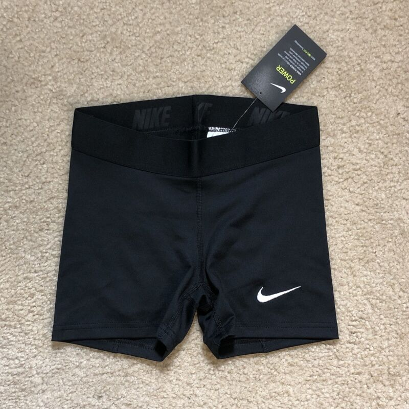 Nike Power Compression Shorts Black Dri Fit Running 835964 WOMEN