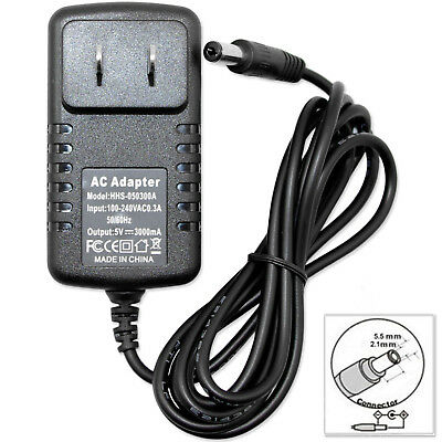 AC Converter Adapter DC 5V 3A Power Distribution Charger 5.5mm x 2.1mm US 3000mA