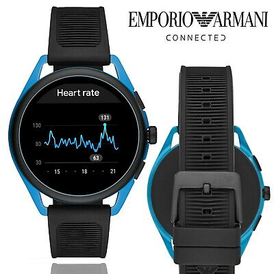 Emporio Armani Matteo 2.0 Smart Watch Fitness Tracker Heart Rate Bluetooth Black