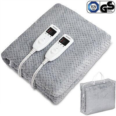 Manta eléctrica Doble forro polar 160x140cm 120V calienta camas con 2 mandos...