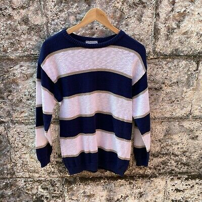 80s Sweatshirts, Sweaters, Vests | Women Vintage 1980s Blue & White Striped Jumper by Katies In great condition Size 12 $29.70 AT vintagedancer.com