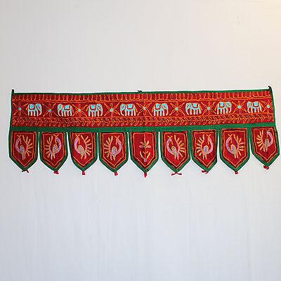 Türbehang Toran Thorang Indien Wandbehang Tapestry  Tür-Dekoration rot 2