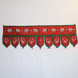 Türbehang,TORAN/THORANG Indien Wandbehang Goa Hippie Tür-Dekoration rot 2