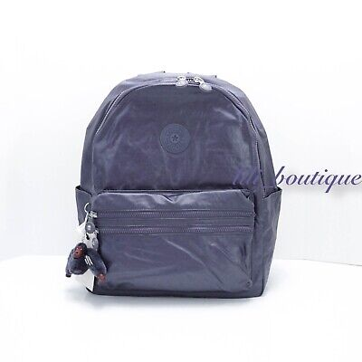 NWT Kipling BP4194 Bouree Backpack School Bag Nylon Enchanted Purple Metallic