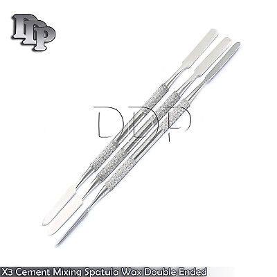 X3 Dental Cement Mixing Spatula Wax Carving Double Ended Instruments New