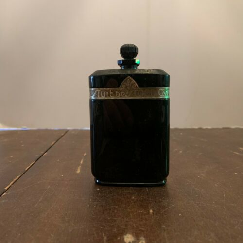 Vintage Nuit De Noel Baccarat Black Glass Perfume Bottle