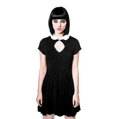 KILLSTAR Bad Habits Dress Gothic Kleid Schwarz Schoolgirl Wednesday  Gothic School Girl