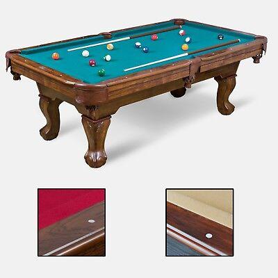 Billiard Pool Table Set Cues Balls Chalk Triangle Brush Indoor Family Sport 87