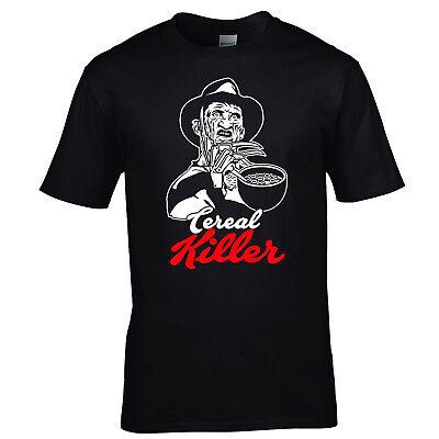Divertente Freddie Krueger Cereal Assassino Halloween T-Shirt Serial Tee S-XXL