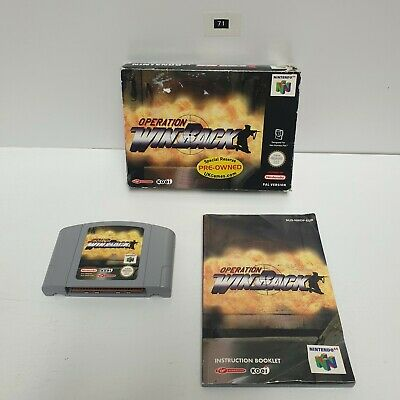 Operation Winback Nintendo 64 N64 RARE Game Boxed Complete PAL oz71