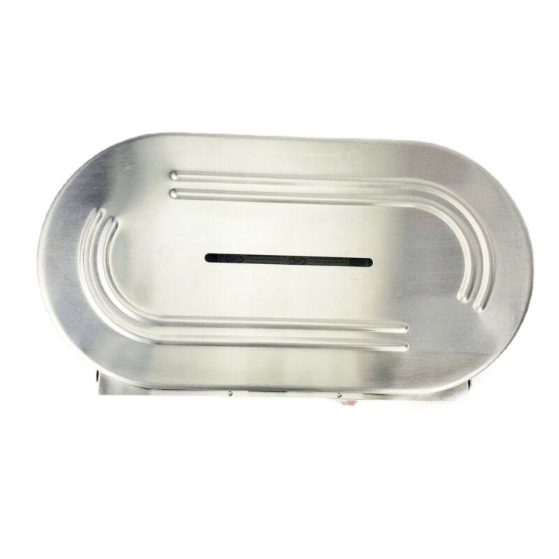 """Low Profile Stainless   Commercial Twin 9"""" Jumbo Roll Tissue Dispenser With Key"""