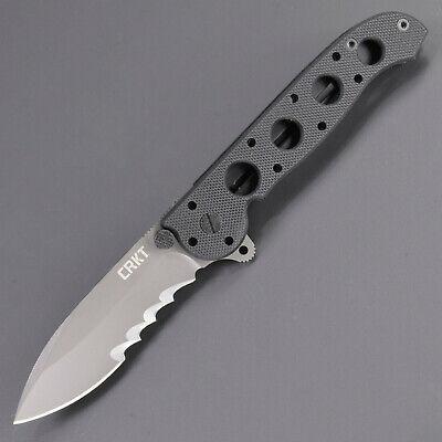 CRKT M21-12G CARSON FLIPPER FOLDING KNIFE LINERLOCK AUTO LAWKS COMBO EDGE Auto Folding Knife