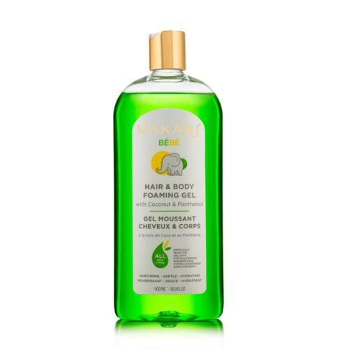 Makari Baby Foaming Gel 16.9 fl. Oz – Moisturizing Bath Time Body Wash,
