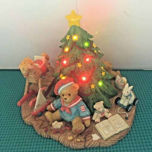 Cherished Teddies 104054 Graham Light up Christmas Tree Rocking Horse Sailor ❤