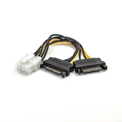 PCI Express Adaptador de Corriente Cable Eléctrico 2x SATA Enchufe ></noscript> 8...