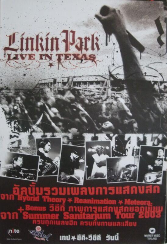 "LINKIN PARK ""LIVE IN TEXAS 2003"" THAILAND PROMO POSTER - Alternative Rap/Rock"