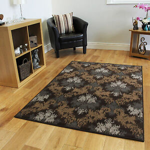 nouvelle moderne beige brun tapis de treillis petit grand soft pas cher tribal ebay. Black Bedroom Furniture Sets. Home Design Ideas
