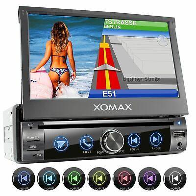 Radio de coche con navegación bluetooth Dvd Cd Sd Usb mirroring pantalla...
