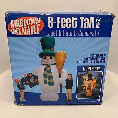 Gemmy Frosty The Snowman 8 Foot Airblown Inlatable Christmas Light Blow Up