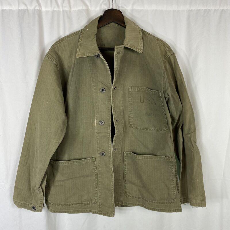 Original Wwii US Navy N-3 Hbt Herringbone Jacket