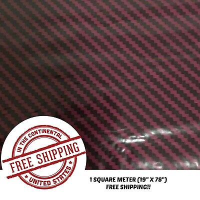 Hydrographic Film Water Transfer Hydro Dipping Dip Film 1sq Dark Red Carbon
