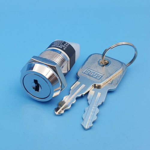 Metal 4Pin ON-OFF 2Position Maintained DPST A Series Electronic Lock Key Switch