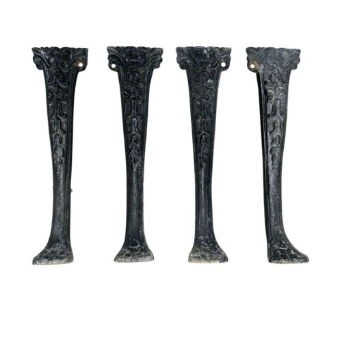 Set of 4 Antique Vintage Steampunk Cast Iron Legs