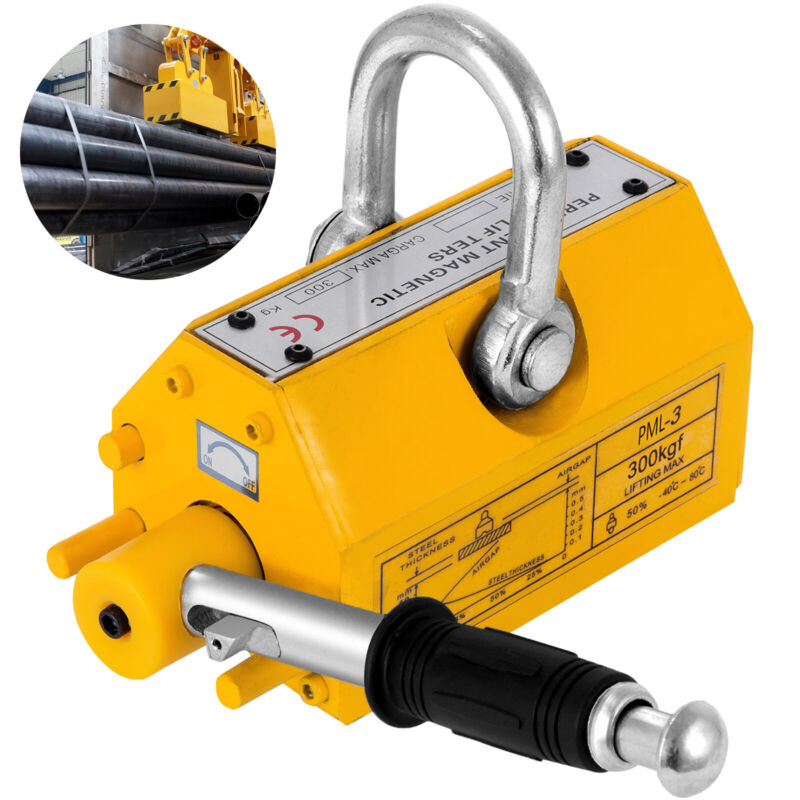 Magnetic Lifter Heavy Duty Crane Hoist Lifting Magnet 660lb 300 KG