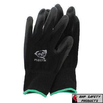12 Pair Global Glove Pug17-m Polyurethane Anti-static Work Gloves Medium