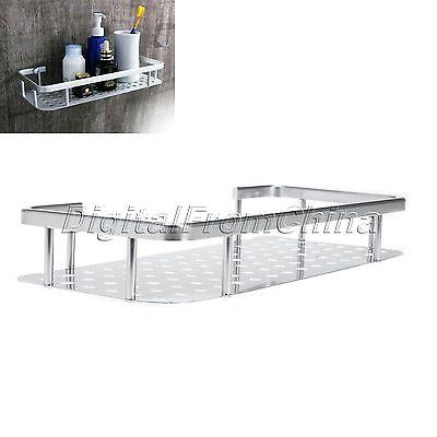 Rectangle Single Tier Wall Mouted Bathroom Floating Shelf Bath Shelves Alu Rack