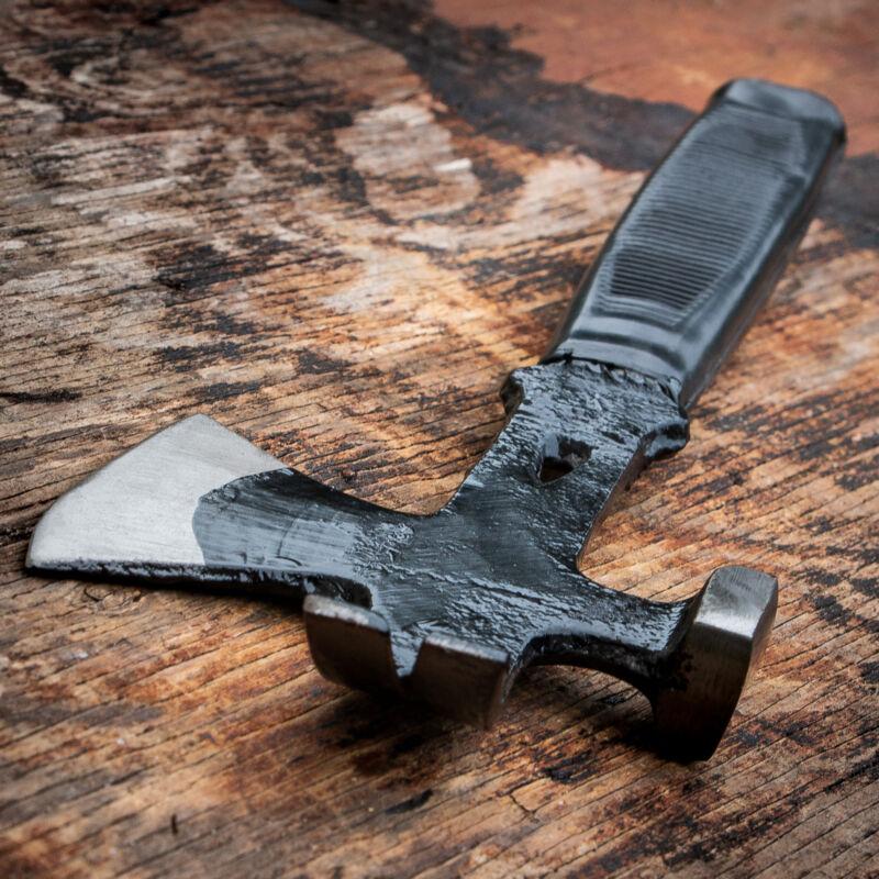 SURVIVAL CAMPING TOMAHAWK THROWING AXE HAMMER Hatchet Hunting Knife Crowbar