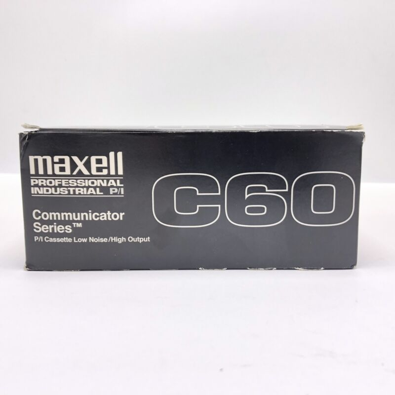 Ten Maxwell Professional Industrial Communicator Series C60 Cassette