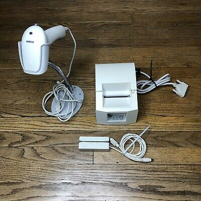 Star Tsp600 Thermal Receipt Printer Usb Card Reader Hhp Scanner