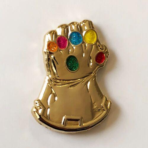 INFINITY GAUNTLET 3D Metallic Gold enamel pin avengers thanos cosmic ghost rider