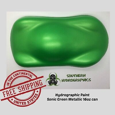 Hydrographic Film Hydro Dip Paint Base Coat 16oz Aerosol Sonic Green Metallic