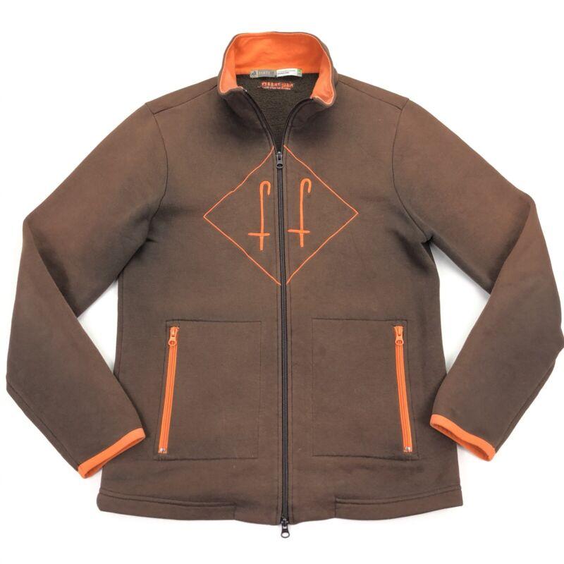 F. Lli Fabbri Men's Party of 2 Equestrian Fleece Jacket Brown Orange • Medium
