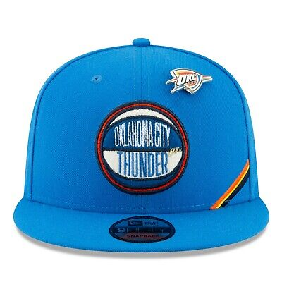 D89 Mens Oklahoma City Thunder New Era Official Draft 2019 9FIFTY Snapback Cap